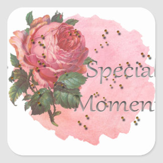 FLOWER SPECIAL MOMENTS SQUARE STICKER