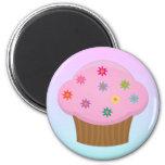 Flower Sprinkles Cupcake Magnet Refrigerator Magnet