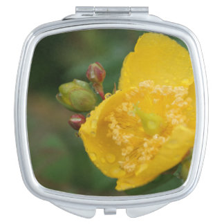 Flower Square Compact Mirror