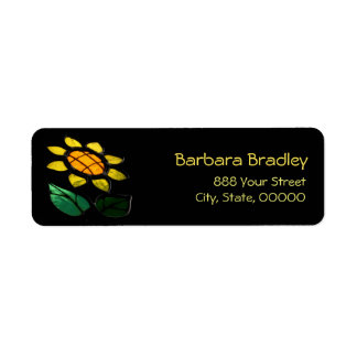 Flower Stained Glass Return Address Return Address Label