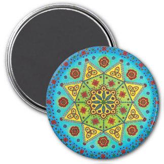 Flower Star Mandala Magnet