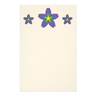 Flower stars stationery