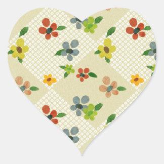 Flower Heart Stickers