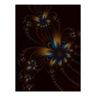 Flower Strings on Chocolate Poster