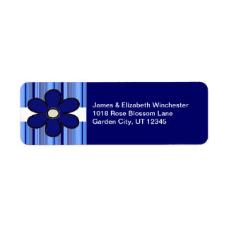 Flower Stripe Address Labels