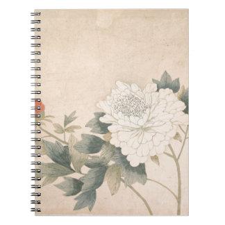 Flower Study - Yun Bing (Chinese) Spiral Notebook