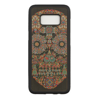 Flower Sugar Skull Carved Samsung Galaxy S8 Case