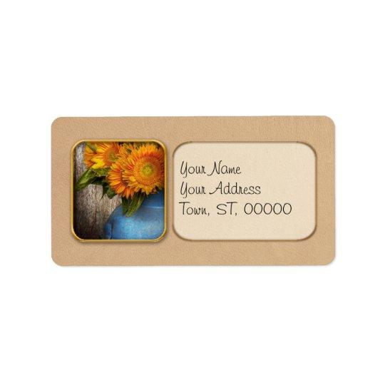 Flower - Sunflower - Country Sunshine Address Label