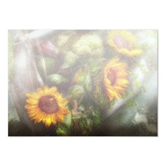 Flower - Sunflower - Gardeners toolbox 13 Cm X 18 Cm Invitation Card