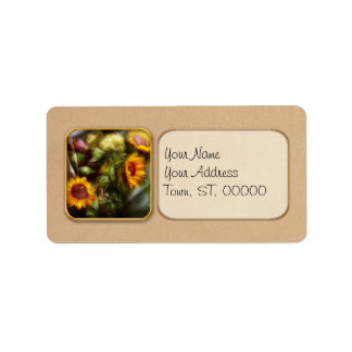 Flower - Sunflower - Gardeners toolbox Address Label