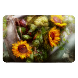 Flower - Sunflower - Gardeners toolbox Rectangular Photo Magnet