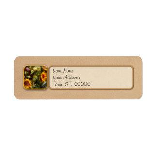 Flower - Sunflower - Gardeners toolbox Return Address Label