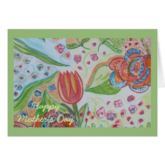 Flower Swirl Happy Mother's Day Card