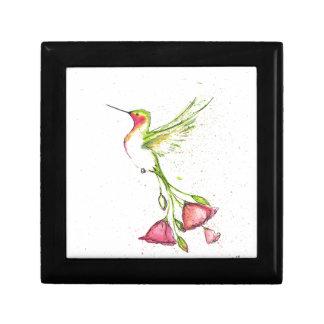 flower tail hummingbird gift box