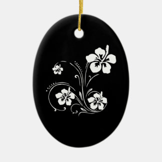 Flower Tattoo Ceramic Ornament