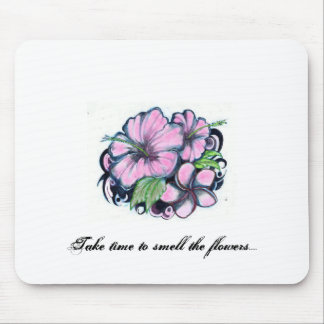 Flower-Tattoos Take time to smell the flowers Mouse Pads