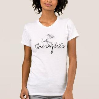 Flower Thoughts (bigger font) Basic T-Shirt