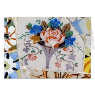 Flower tiles card