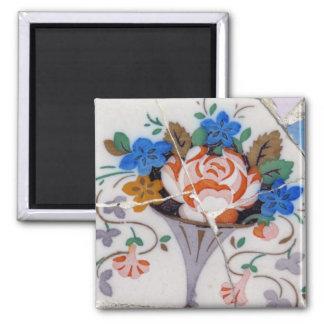 Flower tiles magnet