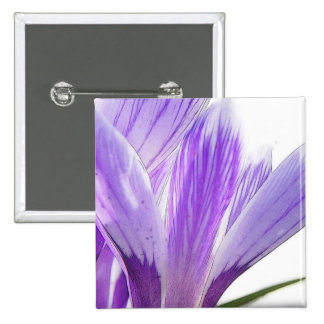 Flower Time - Spring Crocus Pinback Button