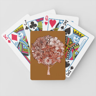 Flower Tree Bicycle Playing Cards