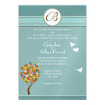 Flower Tree with Bees and Heart Wedding Invitation