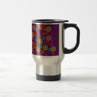 flower tree with neon sun mug