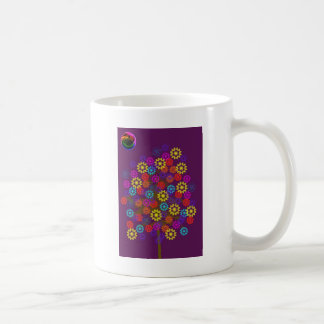 flower tree with neon sun mugs