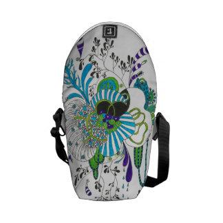 Flower,Trendy,abstract, floral Mini Messenger Bag