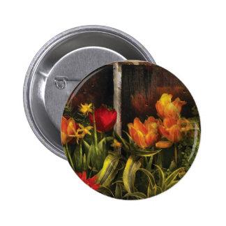 Flower - Tulips in a window Pinback Buttons