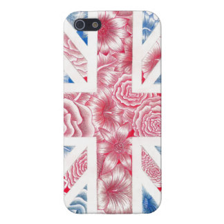 Flower Union Jack Phonecase Cover For iPhone 5/5S