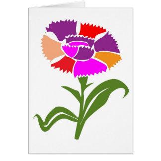 FLOWER : Unusual  Color Scheme Card