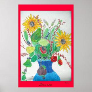 Flower Vase by Lauren Poster