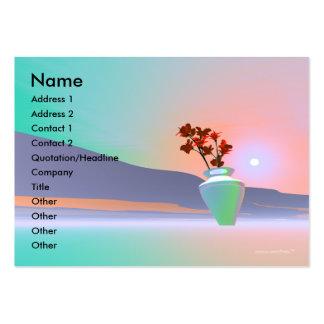 Flower Vase - Chubby Business Card Templates