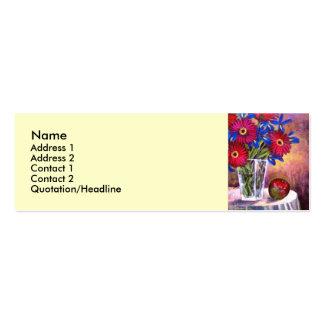 Flower Vase Daisy Gerber Florars  Painting - Multi Business Card Templates