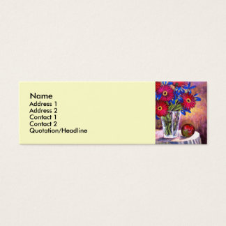 Flower Vase Daisy Gerber Florars  Painting - Multi Mini Business Card