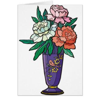 flower vase greeting card
