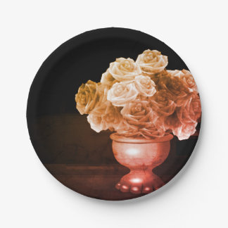 Flower Vase Paper Plates 7 Inch Paper Plate