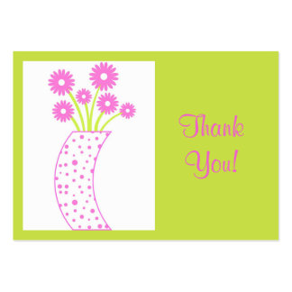 Flower vase Thank You! - Card Business Card