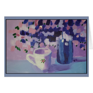 Flower Vase with Cup Notecard