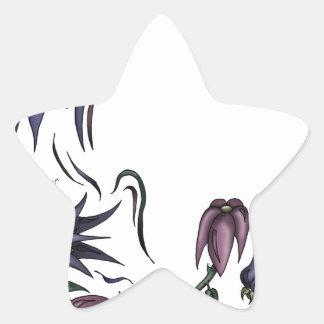Flower Vine Star Sticker