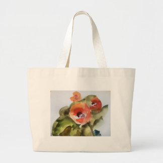 flower watercolor large tote bag