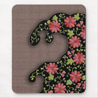Flower wave mouse pad
