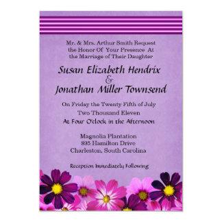 "Flower Wedding Invitations 5"" X 7"" Invitation Card"