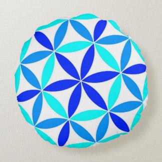 Flower wheel round cushion