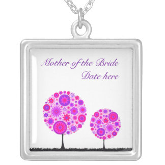 Flower Wishing Tree Purple Mother of the Bride Necklace