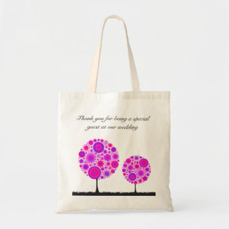 Flower Wishing Tree Purple Wedding Favor Bag