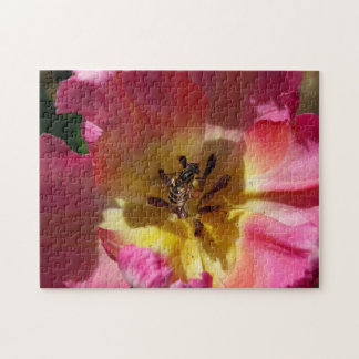 Flower with Hoverfly, Photo Puzzle. Jigsaw Puzzle