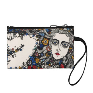 Flower woman coin purse
