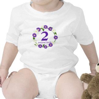 Flower Wreath Purple Months Baby Bodysuit